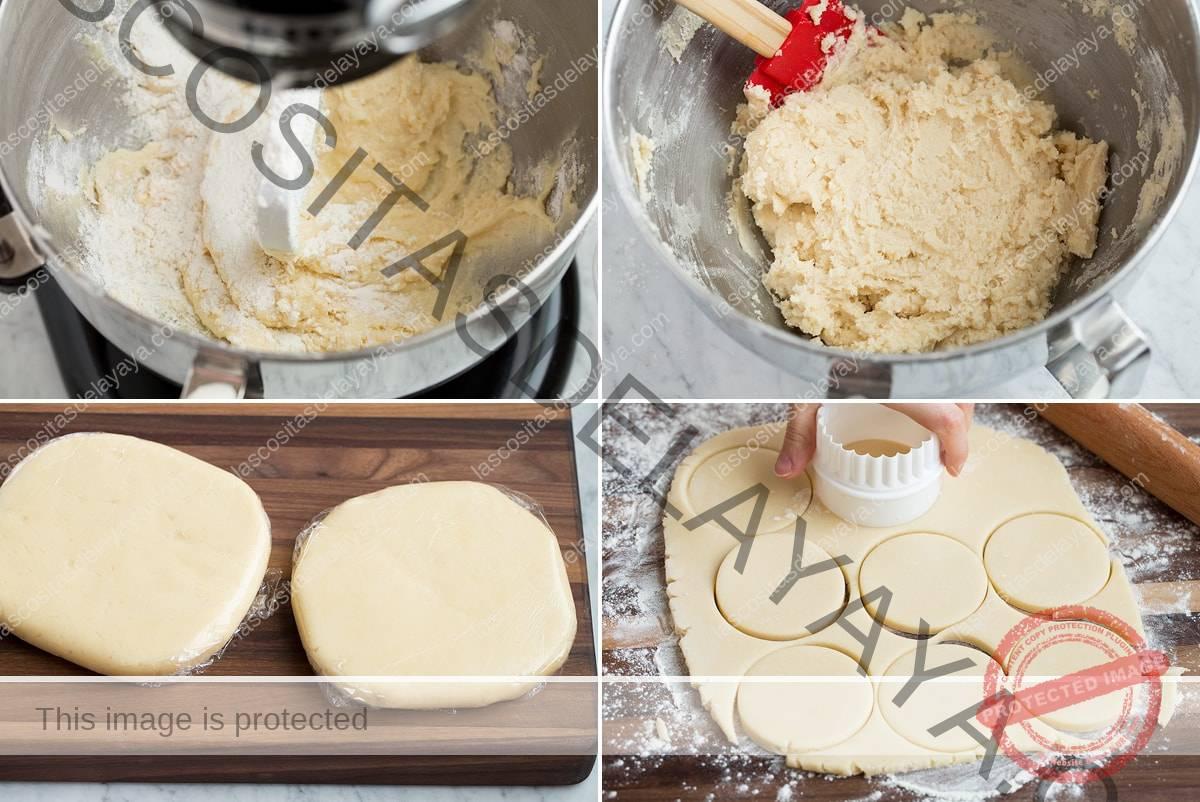 Pasos 5-8 para hacer galletas de azúcar glas
