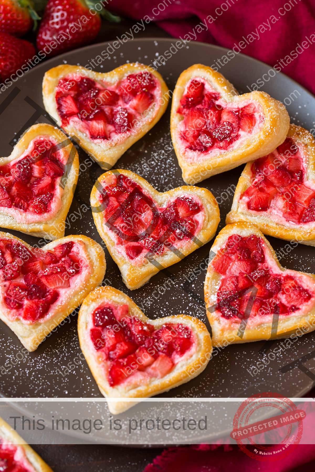 Tortas de desayuno fáciles cortadas en forma de corazón