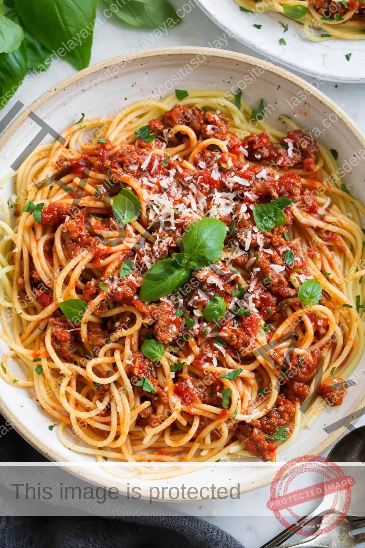 Salsa de espagueti casera boloñesa