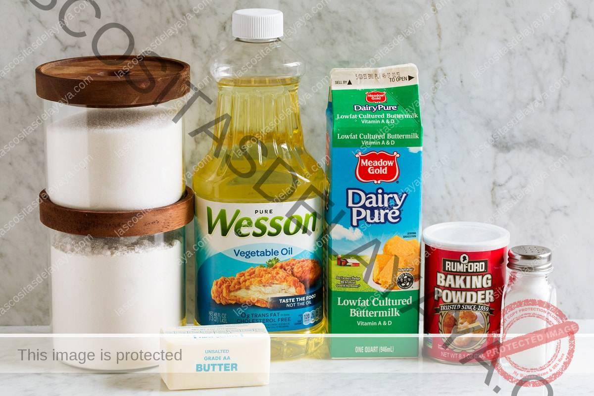 Ingredientes utilizados para hacer donuts caseros