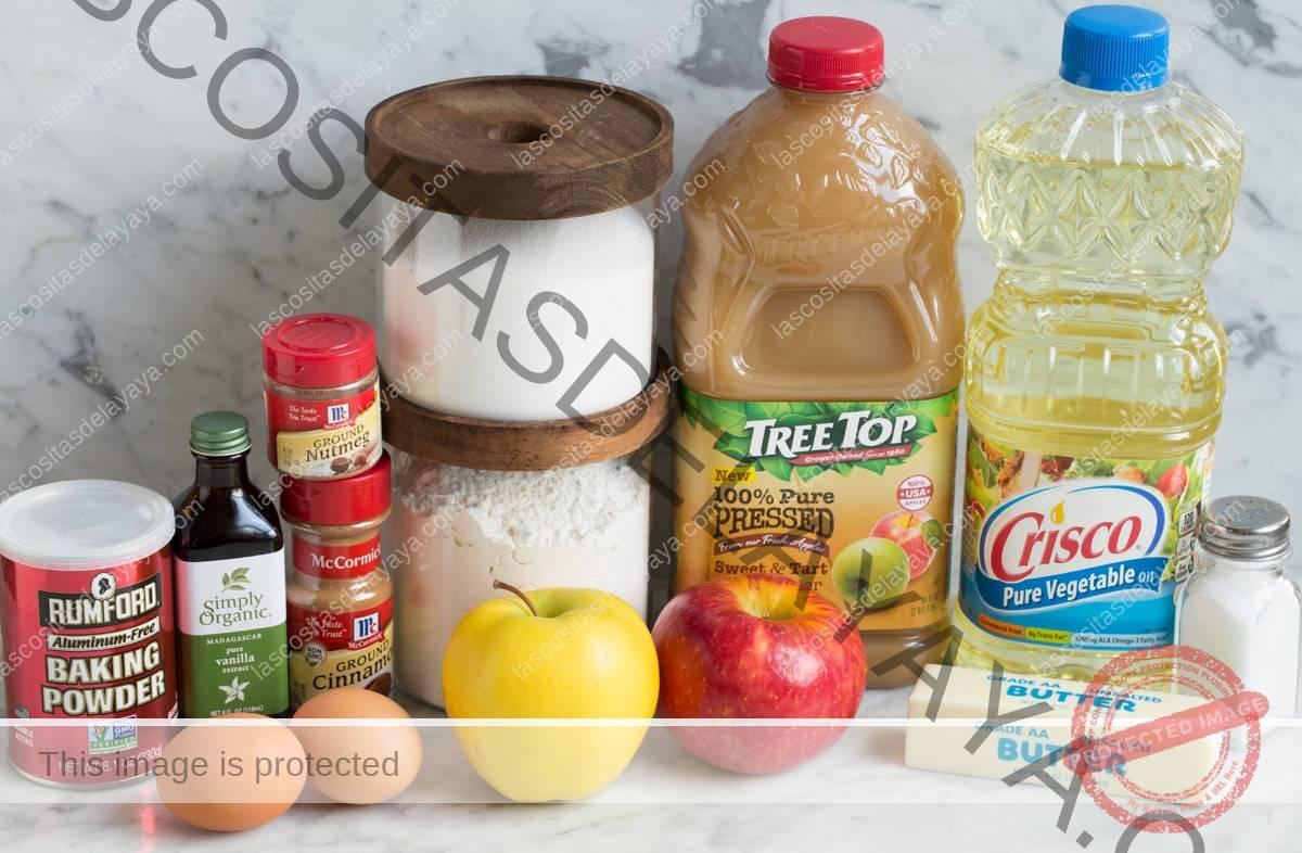 Ingredientes de la magdalena de manzana