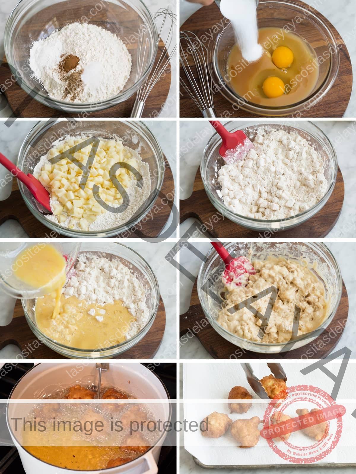 Pasos para hacer galletas de manzana desde cero.