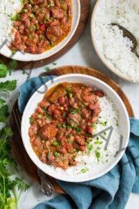 Receta de arroz y frijoles rojos