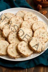 Galletas de nuez con queso crema