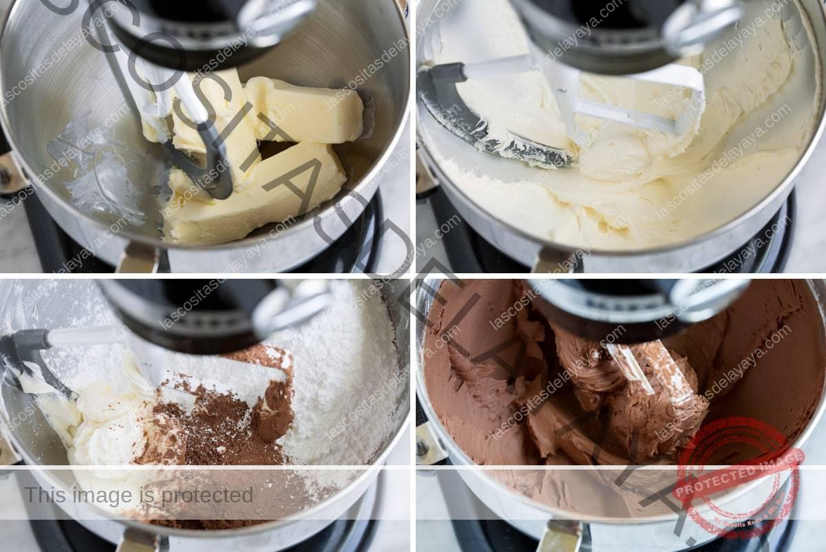 Pasos para hacer glaseado de chocolate