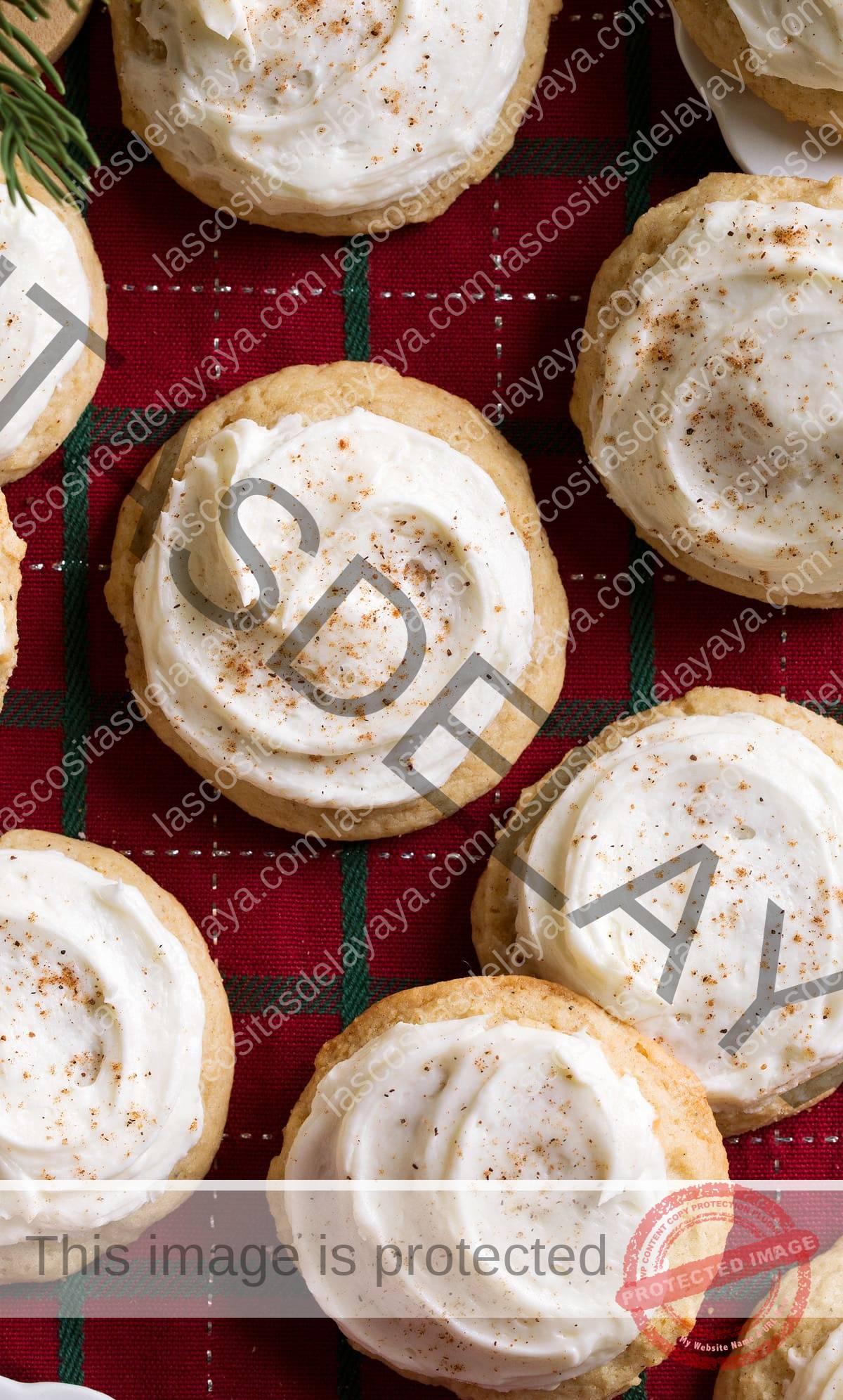 Imagen aproximada de galletas de ponche de huevo