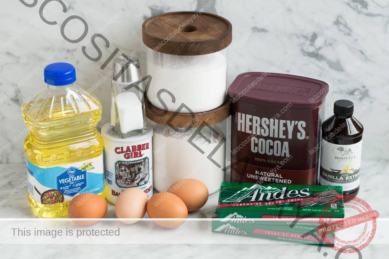 Ingredientes de galletas de menta andina