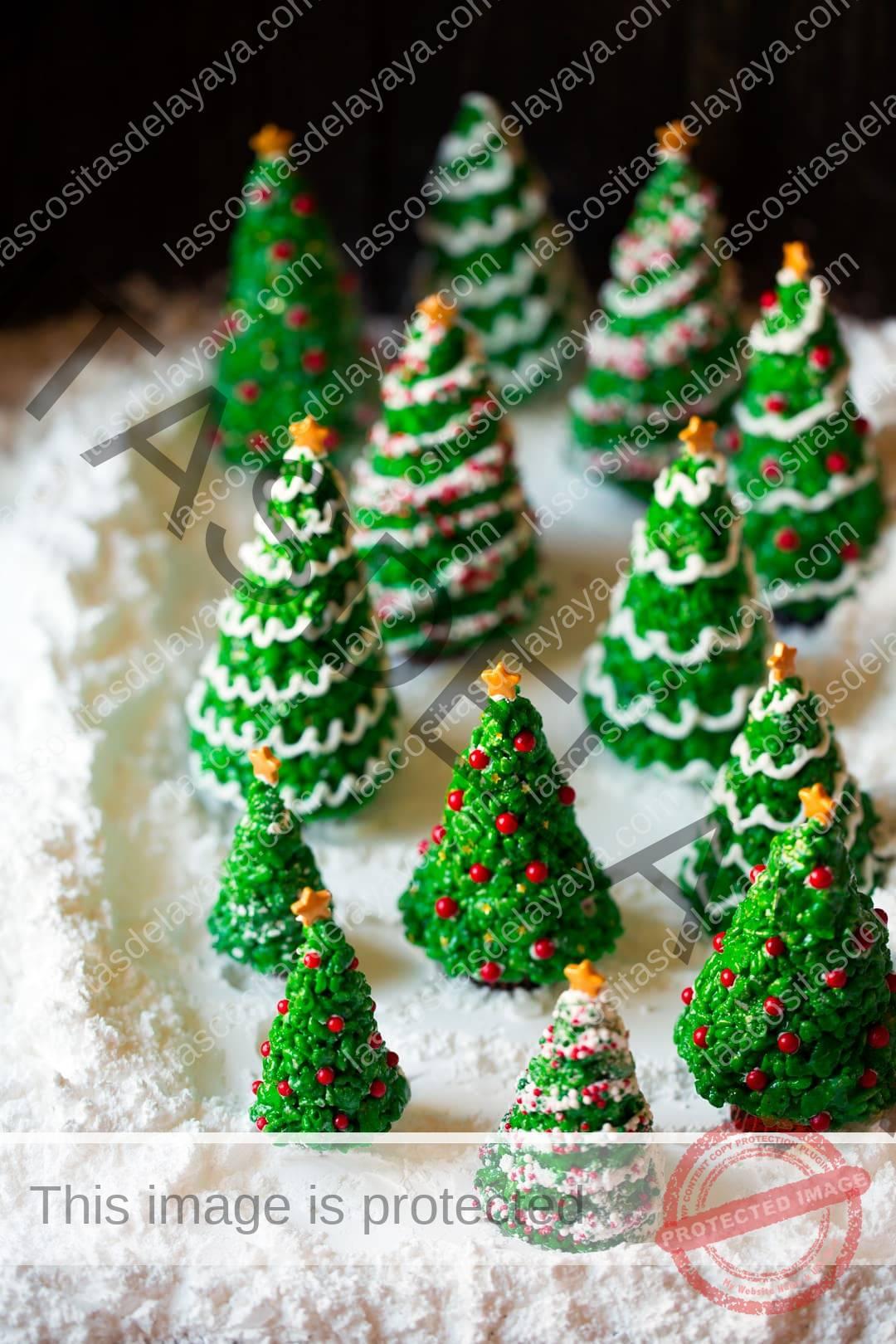 Arroz con arbol de navidad