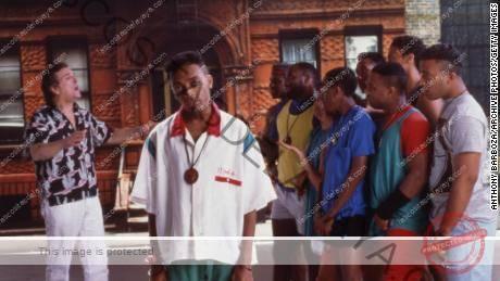 Spike Lee (centro) aparece en el set de su película