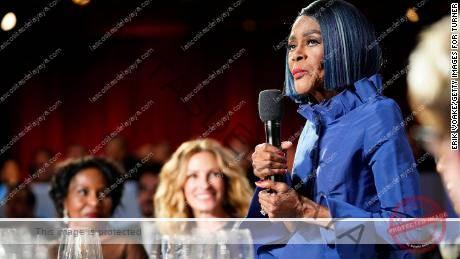 La difunta Cicely Tyson habló en la 47a gala de homenaje del AFI Life Achievement Award en honor a Denzel Washington en 2019.