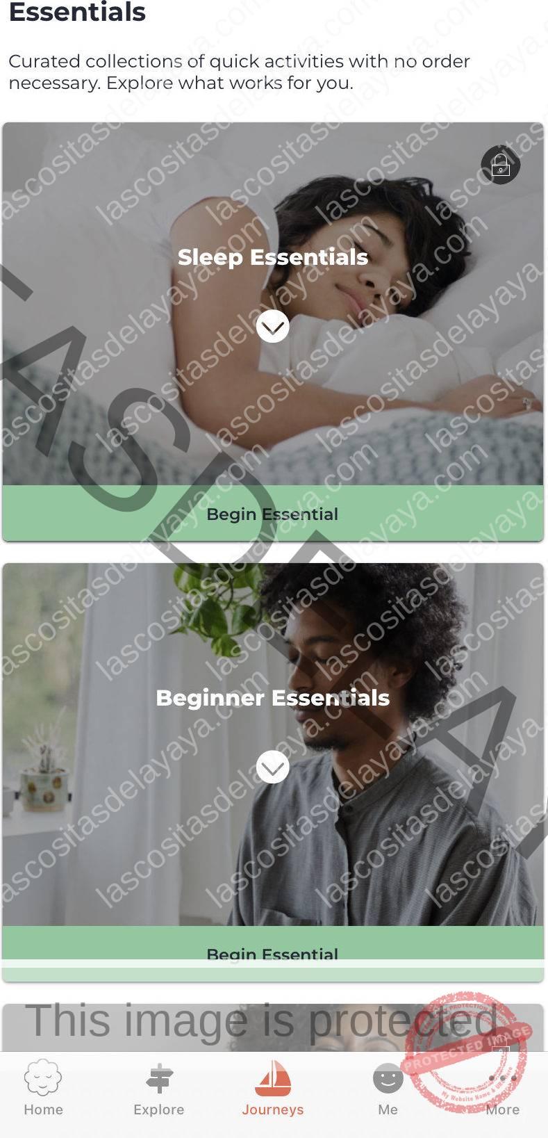 Captura de pantalla de la aplicación MyLife Meditation