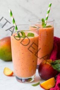Batido de durazno saludable {+ mango y fresa}