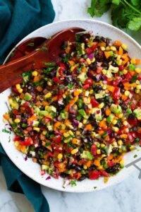 Cómo cocinar🥇Ensalada de frijoles negros y maíz