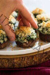 Cómo cocinar🥇Setas rellenas {con espinacas y queso}