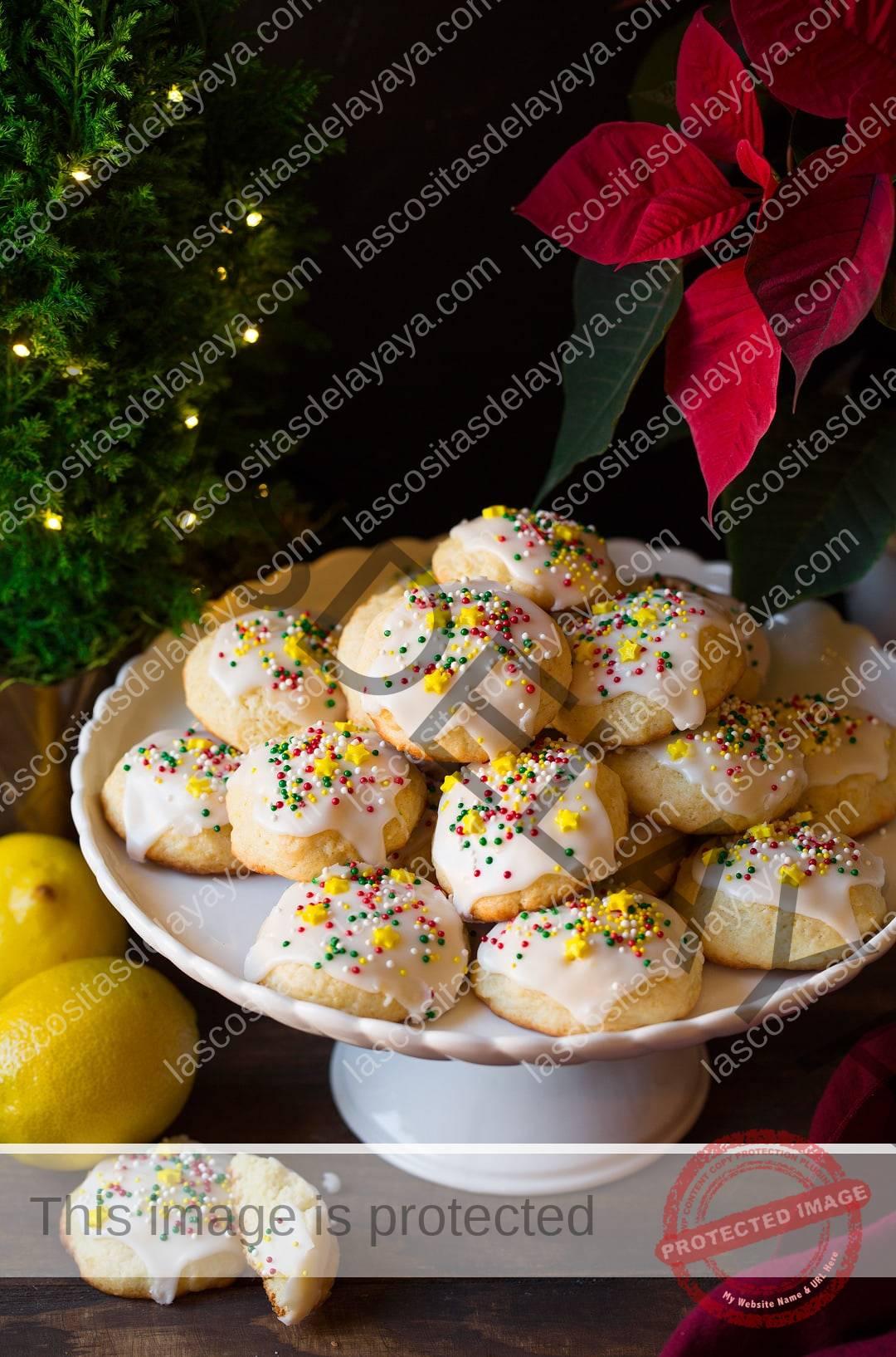 Galletas de crema agria con limón