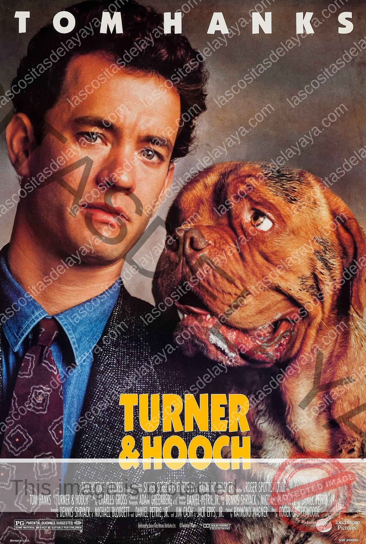 Resultado de imagen para la portada de la película turner and hooch