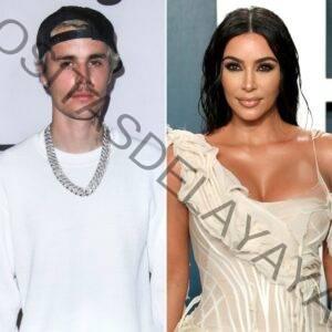 Justin Bieber parece llevar la lencería de Kim Kardashian en el percance de los Billboard