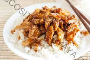 Olla de cocción lenta de pollo teriyaki