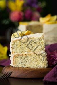 Pastel de limón y semillas de amapola (con cobertura de queso crema)