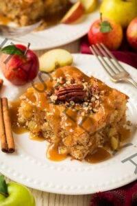 Pastel de manzana (con salsa de caramelo)