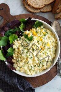 Receta clásica de ensalada de huevo