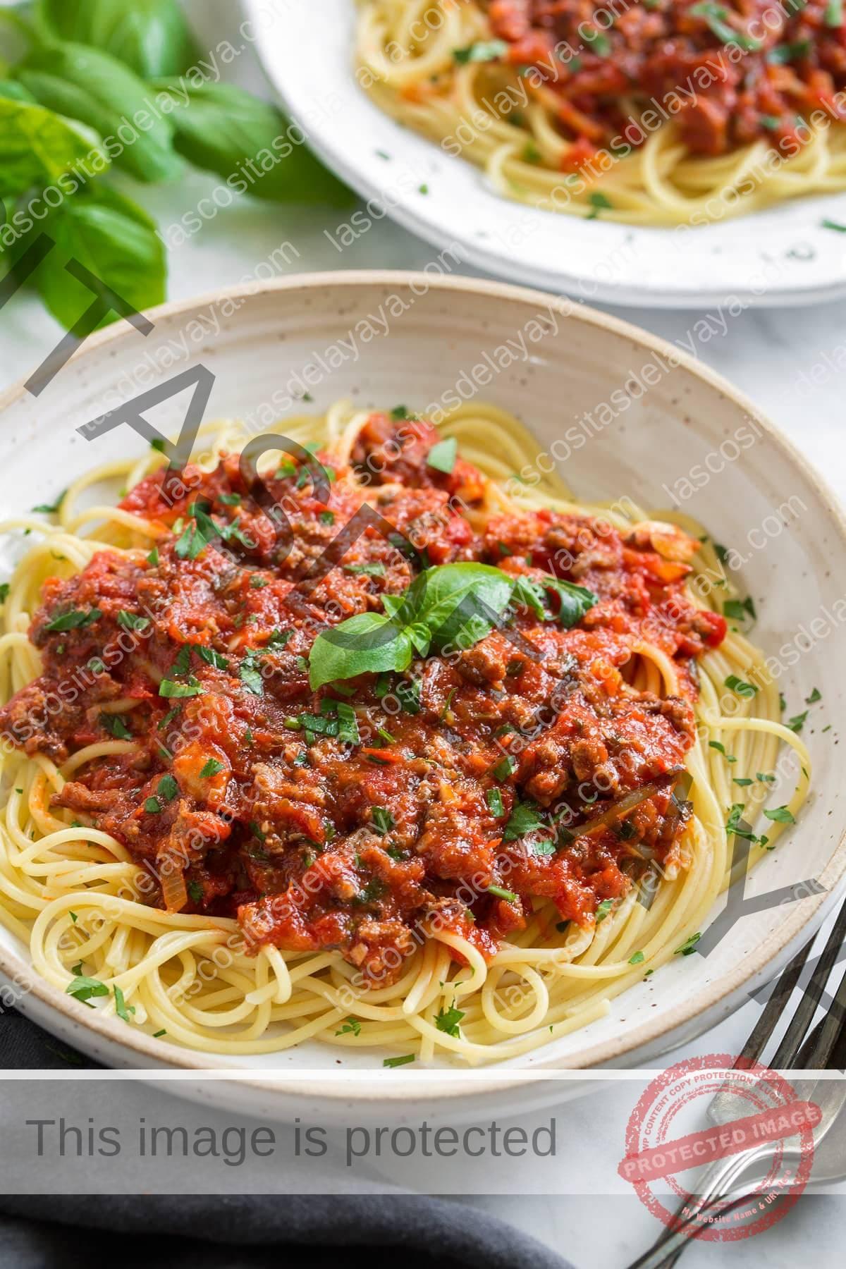 Salsa de espagueti casera