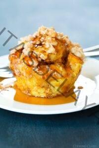 Muffins de calabaza tostadas con cobertura de streusel de canela